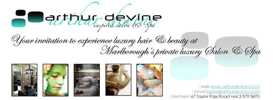 Arthur Devine Inspired Salons and Spa: header