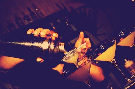 The cocktail bar: serving cocktails