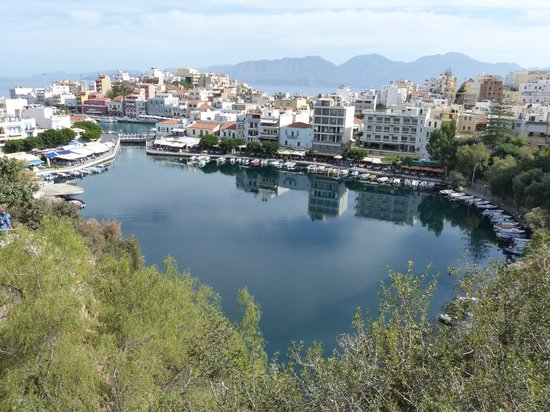 "Minos Beach Art hotel: The beautiful ""lake"" in the town"