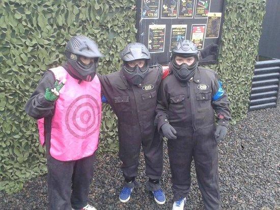 Delta Force Paintball Edinburgh: Birthday Boy and friends