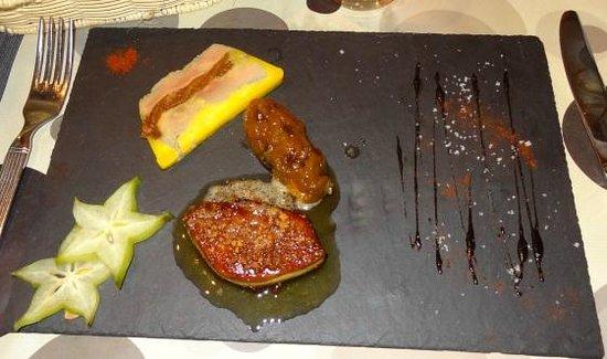 Le Pic Assiette: -Gourmandise de foie gras de canard maison et son chutney aux fruits