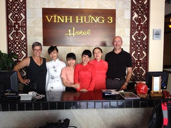 Vinh Hung Library Hotel: Friendly staff (and guests:-))