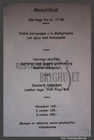 Svaneke Bryghus: Menu