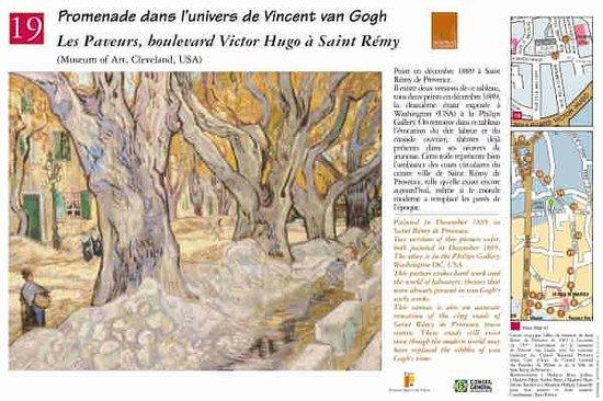 Parcours Vincent van Gogh : Les Paveurs, boulevard Victor Hugo Saint Rémy de Provence