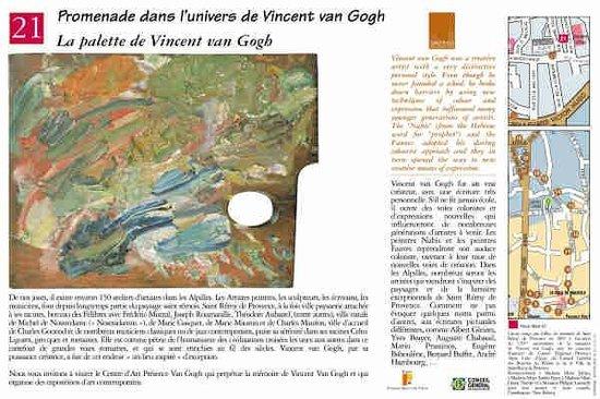 Parcours Vincent van Gogh : La palette de Vincent van Gogh