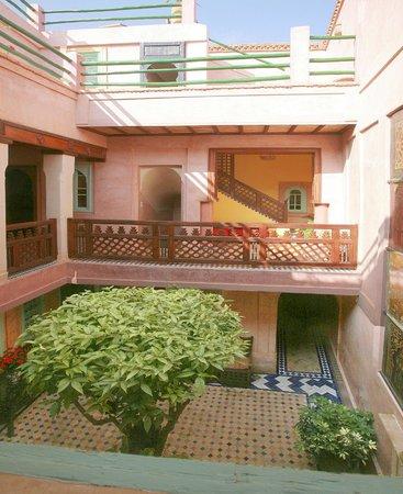 Riad Souika: The central courtyard
