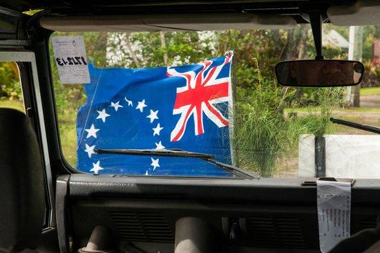 Raro Mountain Safari Tour: Looking out of the Safari Jeep