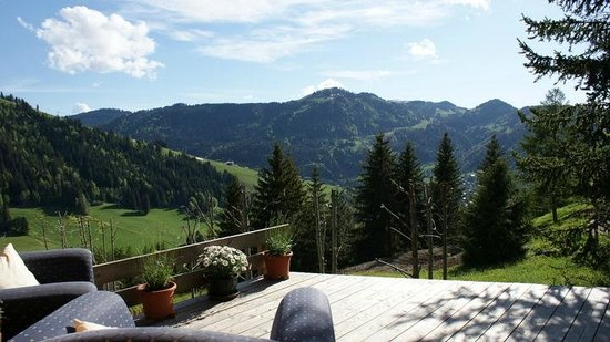 Chalet Fan La Bise: jaw dropping views from the terrace
