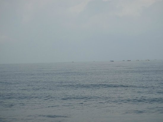 Sealine Beach Resort: boats far away