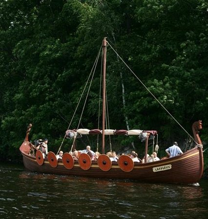 Plavinas, Letonija: Viking boat
