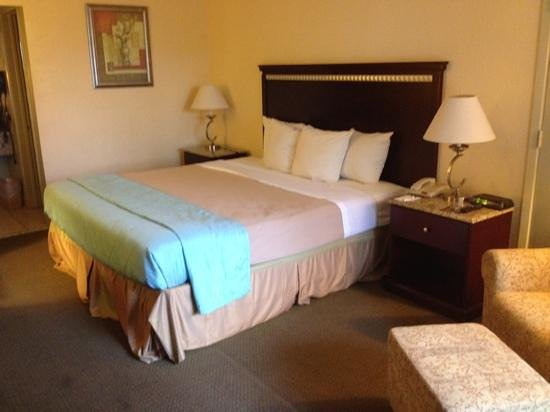 Clarion Hotel & Conference Center: double bed VERY comfortable.