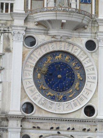 The zodiac clock face