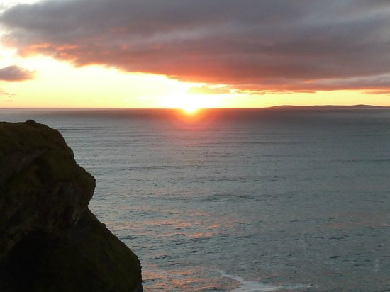 Sunset at Bromore Cliffs 1