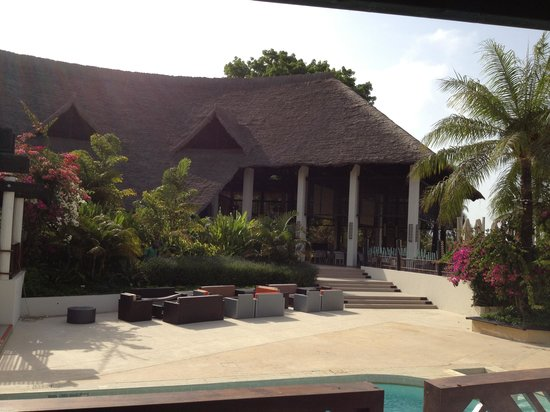 Club Med Cap Skirring: Vue sur la terrasse du restaurant