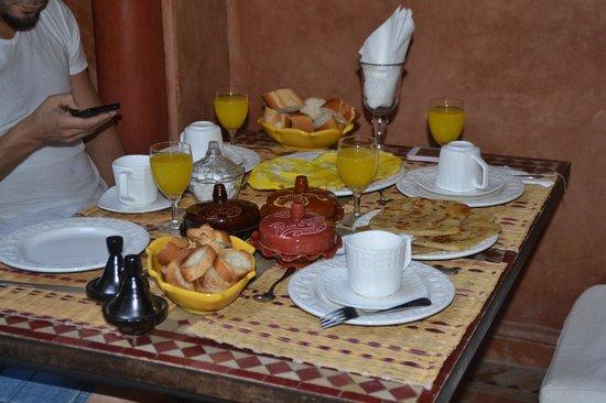 Riad Plein Sud : El magnífico desayuno