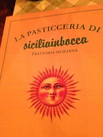 Siciliainbocca al Flaminio : меню