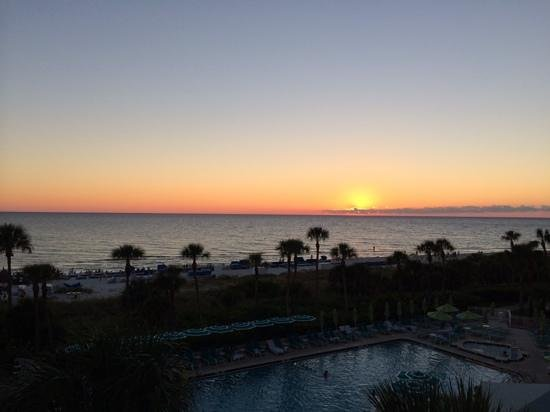 Resort at Longboat Key Club: Sunset from our balcony!
