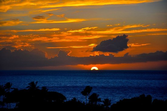 Ho'olei at Grand Wailea: Sunset from the deck