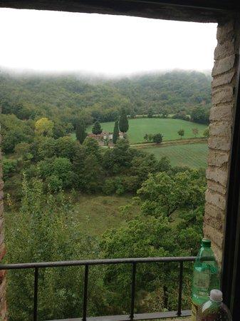 Borgo di Carpiano : Umbrian Hills outside our room