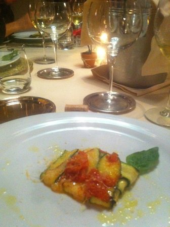 Borgo di Carpiano : Dinner - every meal carefully prepared, beautifully presented, and delicious