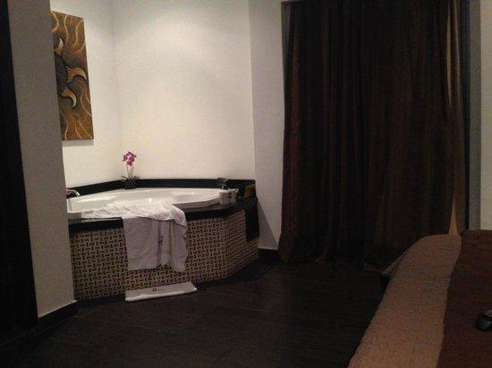 The Panams: jacuzzi en la habitacion