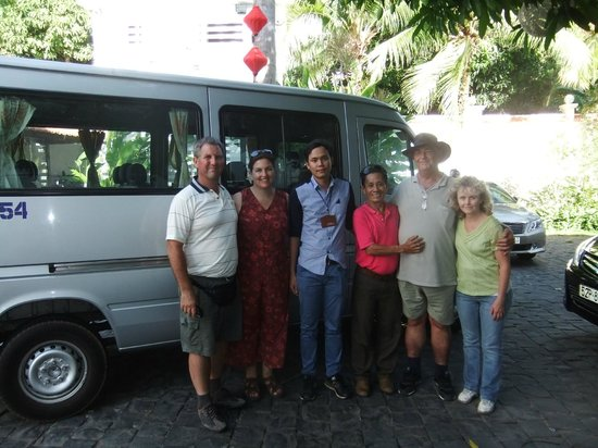 VietnamStay: Our group photo. Two very good friends showed us around.