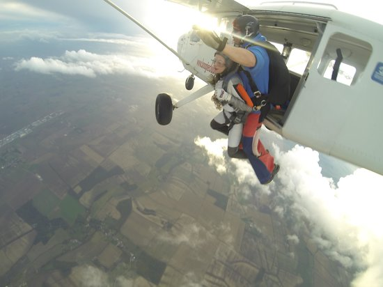 Skydive GB: Just as we jumped out the camera man got it at the right time!