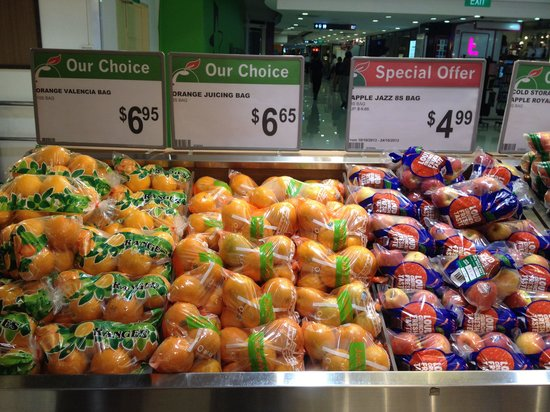 Plaza Singapura Fruit prices in Cold Storage Supermarket on B2 & Fruit prices in Cold Storage Supermarket on B2 - Picture of Plaza ...
