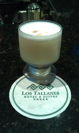 Los Tallanes Hotel & Suites : Complimentary pisco sour upon check-in at Los Tallanes