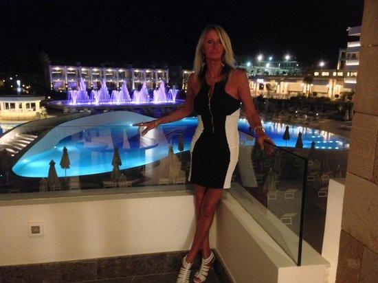 Princess Andriana Resort & Spa : Vue de la terrasse du lobby
