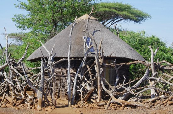 White Elephant Safari Lodge: The 'Hide' - where we watched animals come to the local water hole.