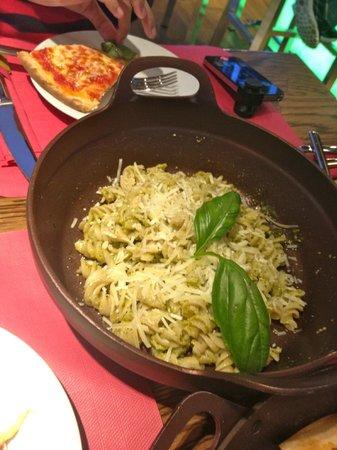Love's Fresh Pasta: I think this was pasta in pesto sauce