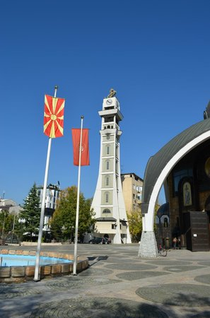 Church of St. Clement of Ohrid: Bells and Flags
