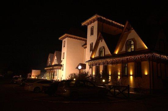 Krakow Hotel : Вид отеля со стороны трассы ночью