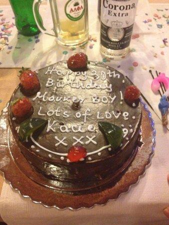 Calypso Restaurant : My birthday cake