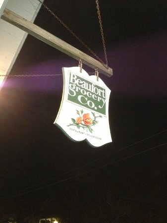 Beaufort Grocery CO: Sign on Queen St.