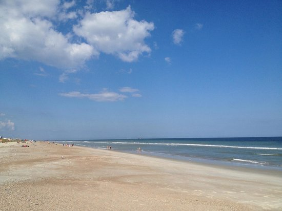 Elizabeth Pointe Lodge: A beautiful beach day looking north