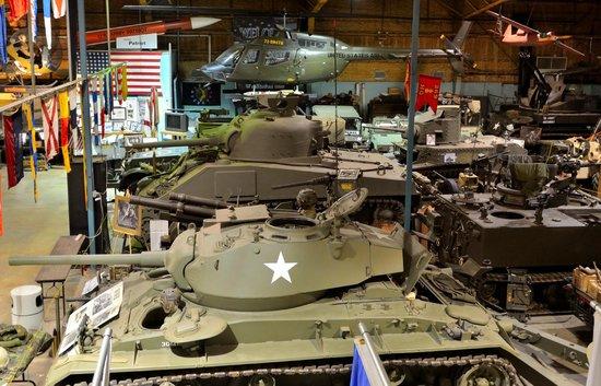 U.S. Veterans Memorial Museum: armor and artillery