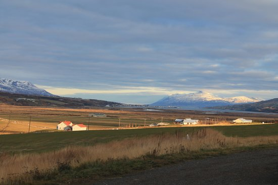 Ongulsstadir Guesthouse: View north to Akureyri