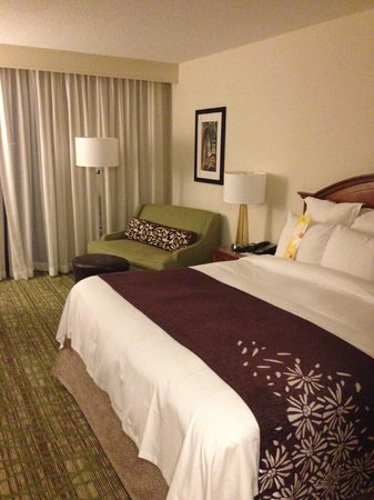 Tampa Airport Marriott: Bed to sitting area