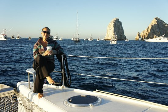 Sail Baja Adventures: Nothing like enjoying a nice coffee with that view