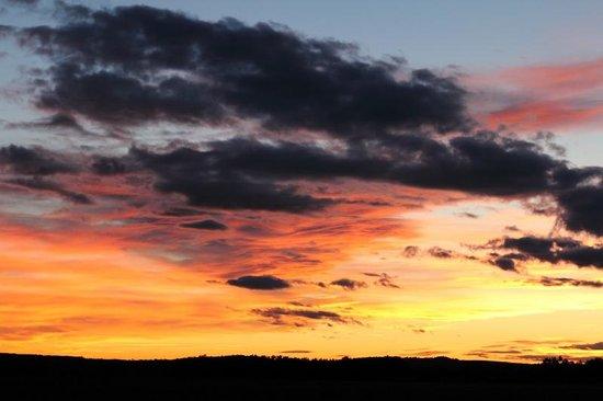 Organic Provence at La Vudele : Sonnenuntergang