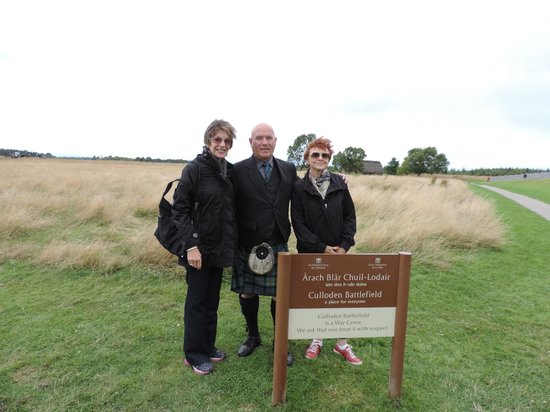 Invergordon Tours: Will Beamis at Fields of Culloden
