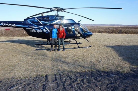 Helo Helicopter Service of Iceland: second stop near a geyser!