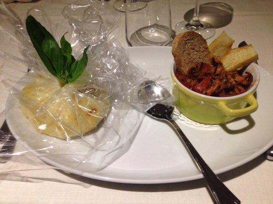 La Taverna del Lupo: Baccalà mantecato con patate e moscardini in umido con guazzetto