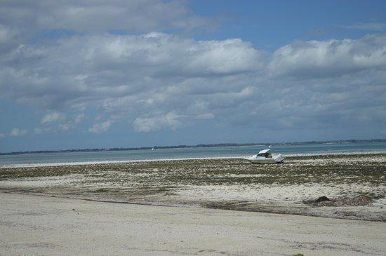 Michamvi Sunset Bay Resort: Strand bei Ebbe