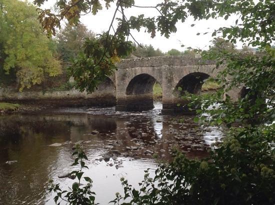Swan Park: The foot bridge at Swan Lake