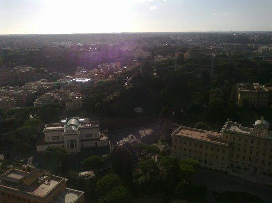 Cupola di San Pietro: vista dall'alto della cupola