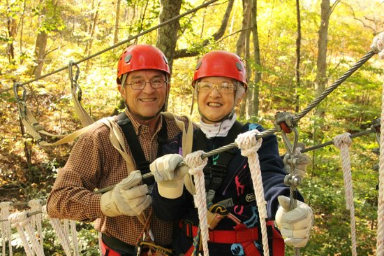 Hocking Hills Canopy Tours: Tom & Pat Miller Oct. 8, 2013