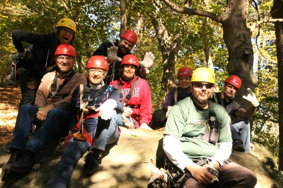 Hocking Hills Canopy Tours: Our fun group on Oct 8, 2013